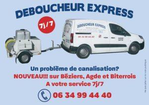 Débouchage canalisation Béziers Agde