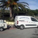 La camionnette Déboucheur Express et son équipement mobile